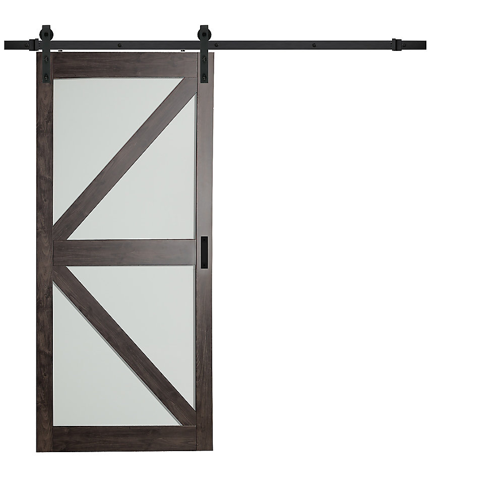 Truporte 36 Inch X 84 Inch Iron Age K Lite Frosted Glass