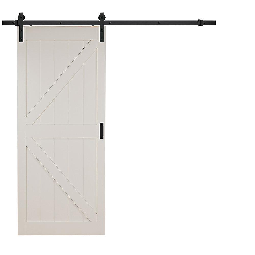 Truporte 42 Inch X 84 Inch Off White K Design Rustic Barn