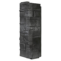 Stone DS - Dry Stack Stone in Anthracite - Coin (6.30 Ln. Pieds / boîte)