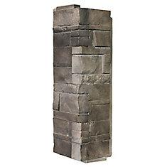 Stone DS - Dry Stack Stone in Flint - Corner (6.30 Ln. Pieds / boîte)