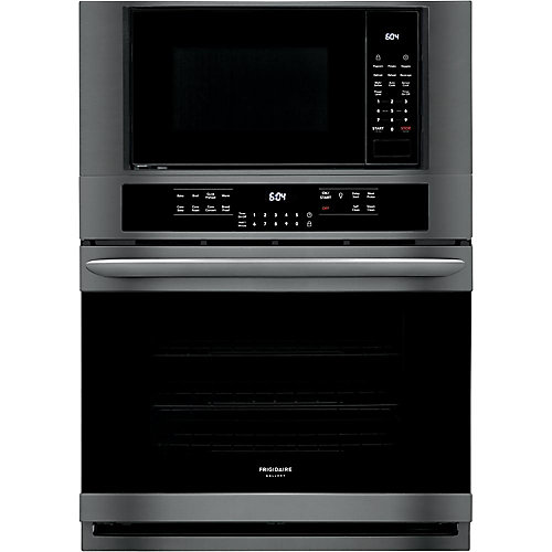 30-inch 5.1 cu. ft. Electric True Convection Wall Oven with Built-In Microwave in Black Stainless Steel