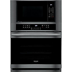30-inch Electric Wall Oven & Microwave with True Convection in Smudge-Proof® Black Stainless Steel