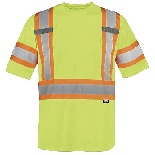 Dickies Hivis-Ability, Men's, Large, Yellow, Polyester, T-shirt