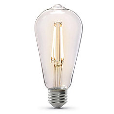 60W Eq ST19 Soft White (2100K) Dimmable Clear Glass Filament Vintage Style LED Light Bulb