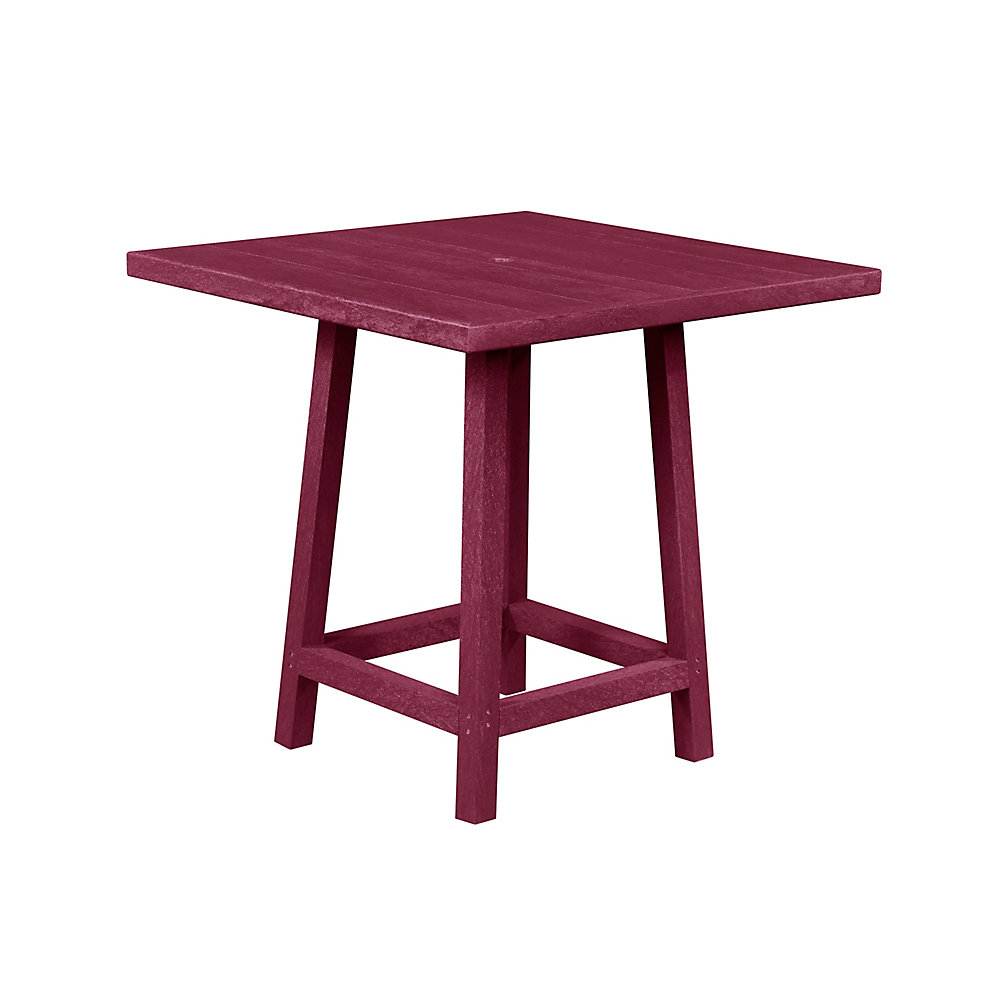 Square 40 inch Pub Table with 40 inch Legs Bordeaux