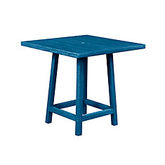Square 40 inch Pub Table with 40 inch Legs Cobalt