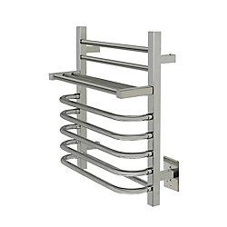WarmlyYours 7-Bar Maui Towel Warmer, Hardwired, Polished Stainless Steel