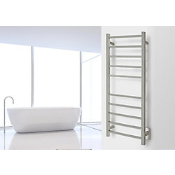 WarmlyYours 10-Bar Sydney Towel Warmer, Hardwired, Brushed Stainless Steel