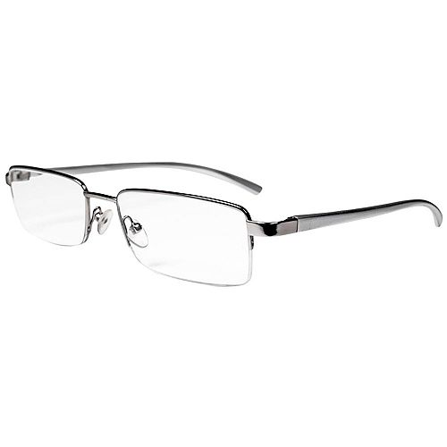 Magnifeye Reading Glasses Modern Silver 1.25 Magnification