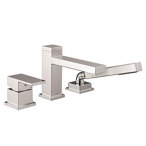 MOEN Kyvos One-Handle Low Arc Roman Tub Faucet with Hand Shower