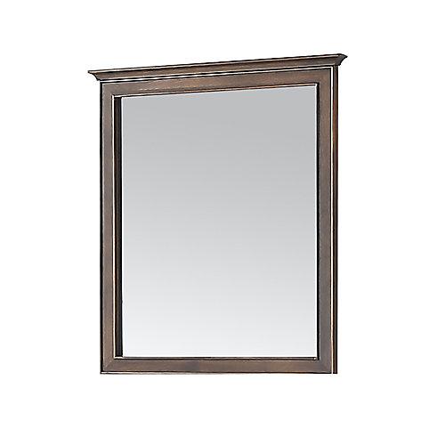 Miroir Clinton, couleur brun amande