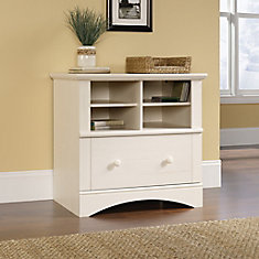 Harbor View Lateral File in Antiqued White