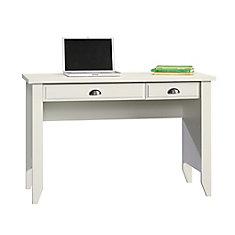Shoal Creek - Bureau ordinateur en blanc doux