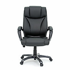 Executive Chair Leather Black
