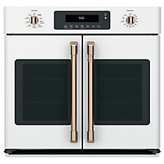 30-inch Professional French-Door, Convection Single Wall Oven in Matte White