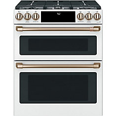 6.7 cu. ft. Electric Double Oven Slide-In Range with True Convection in Matte White