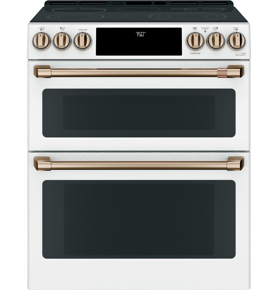 7 cu ft. Electric Double Oven Slide-In Range in Matte White