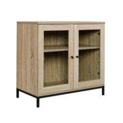 Sauder Woodworking Company North Avenue Display Cabinet in Charter Oak