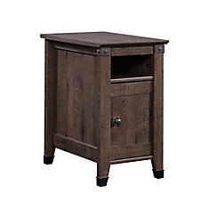 Carson Forge Side Table in Coffee Oak