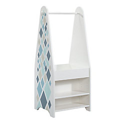Sauder Woodworking Company Pinwheel Kids Open Wardrobe in Soft White