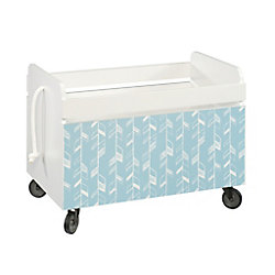 Sauder Woodworking Company Pinwheel Rolling Toy Box in Soft White
