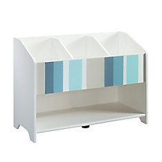 Pinwheel Bookcase (footboard) in Soft White