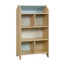 Sauder Woodworking Company Pinwheel Dollhouse Bookcase in Urban Ash