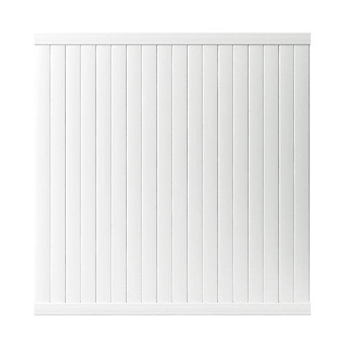 Panneau de clôture Somerset en vinyle blanc intimité de 1,83 m haut x 1,83 m lar (6 pi haut x 6 pi lar)