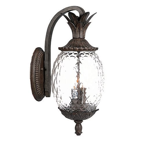 Acclaim LANAI Downward Wall-Mount 3-Light Outdoor Fixture in Black Coral