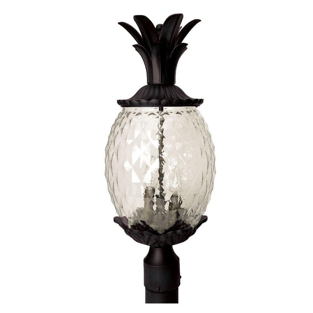 Acclaim LANAI Outdoor 3-Light Post Lantern in Matte Black