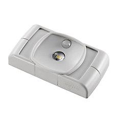 Luminaire à DEL compact mince fonctionne sur piles activé par mouvement Grey