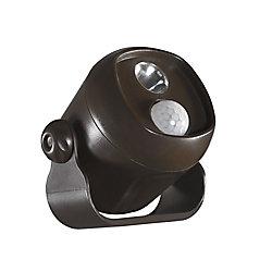 Acclaim Mini-projecteur à DEL fonctionne sur piles activé par mouvement Bronze