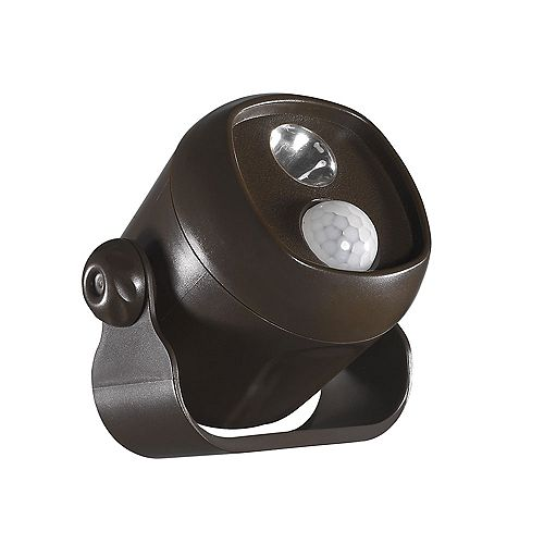 Acclaim Battery Operated Motion Activated LED Mini Spotlight weather proof Bronze