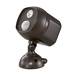 Acclaim Battery Operated Motion Activated LED Single Spotlight weather proof Bronze