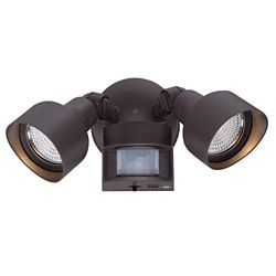 Acclaim Motion Activated Adjustable 2-Head Adjustable LED Floodlight in Bronze with 1218 delivered lumens