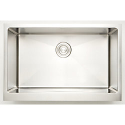 American Imaginations 29-inch W Single Bowl Undermount Kitchen Sink For a Deck Mount Drilling with Gauge 18