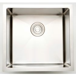 American Imaginations 15-inch W Square Single Bowl Undermount Kitchen Sink For a Deck Mount Drilling