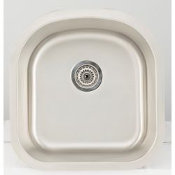 American Imaginations 20.62-inch W Single Bowl Undermount Kitchen Sink For a Wall Mount Drilling