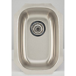 American Imaginations 12.62-inch W Single Bowl Undermount Kitchen Sink For a Wall Mount Drilling