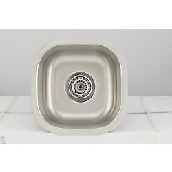 American Imaginations 13-inch W Single Bowl Undermount Kitchen Sink For a Wall Mount Drilling