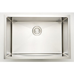 American Imaginations 25-inch W x 18-inch D Undermount Laundry Sink For a Wall Mount Faucet Drilling
