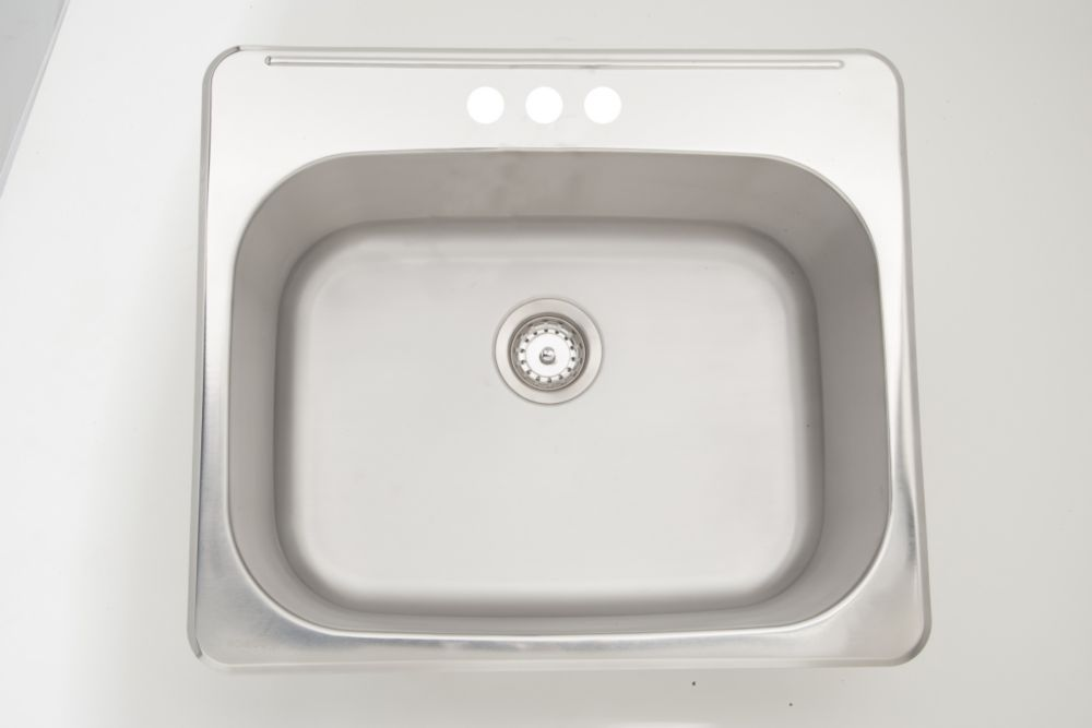 American Imaginations 25-inch W x 22-inch D Drop In Laundry Sink For a 3H4-inch Faucet Drilling