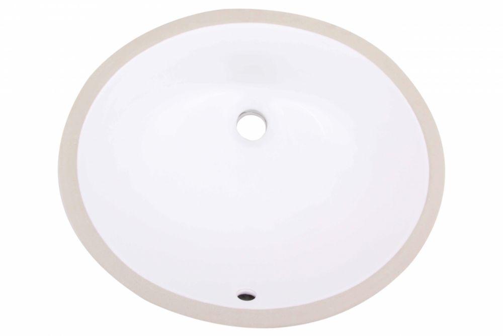 American Imaginations 18.12-inch W x 15.12-inch D Oval Undermount Sink