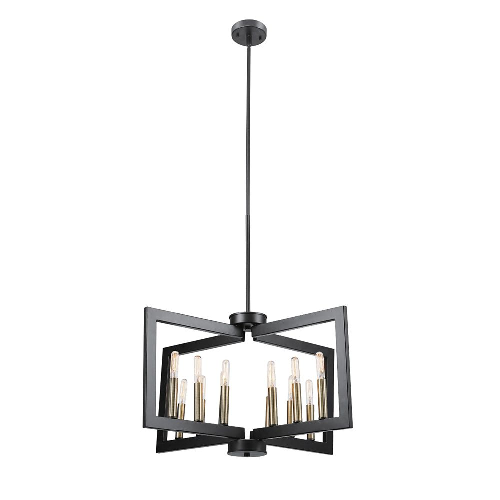 Globe Electric Heath 12-Light Dark Bronze Chandelier