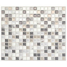 Minimo Noche 11.55-inch W x 9.64-inch H Multi Peel and Stick Decorative Wall Tile (4-Pack)