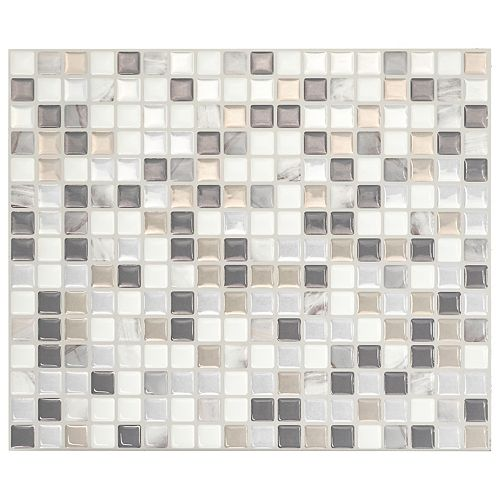 Smart Tiles Minimo Noche 11.55-inch W x 9.64-inch H Multi Peel and Stick Decorative Wall Tile (4-Pack)