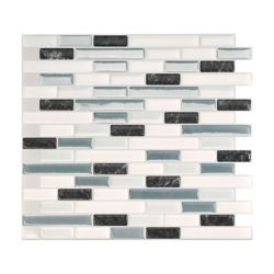 Smart Tiles Tuiles décoratives Peel and Stick pour murs, 10,20 po x 9,10 po, Muretto Brina, multicolore, ens. de 4