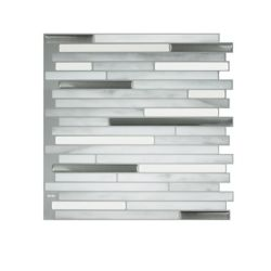 Smart Tiles Capri Carrera 9.88-inch W x 9.70-inch H Grey Peel and Stick Decorative Wall Tile