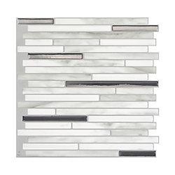 Smart Tiles Capri Carrera 9 88 Inch W X 9 70 Inch H Grey
