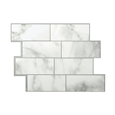 Metro Carrera Grey 11.56-inch W x 8.38-inch H Peel and Stick Decorative Wall Tile